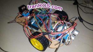 ربات واقعی ساخته شده برای کار با ROS