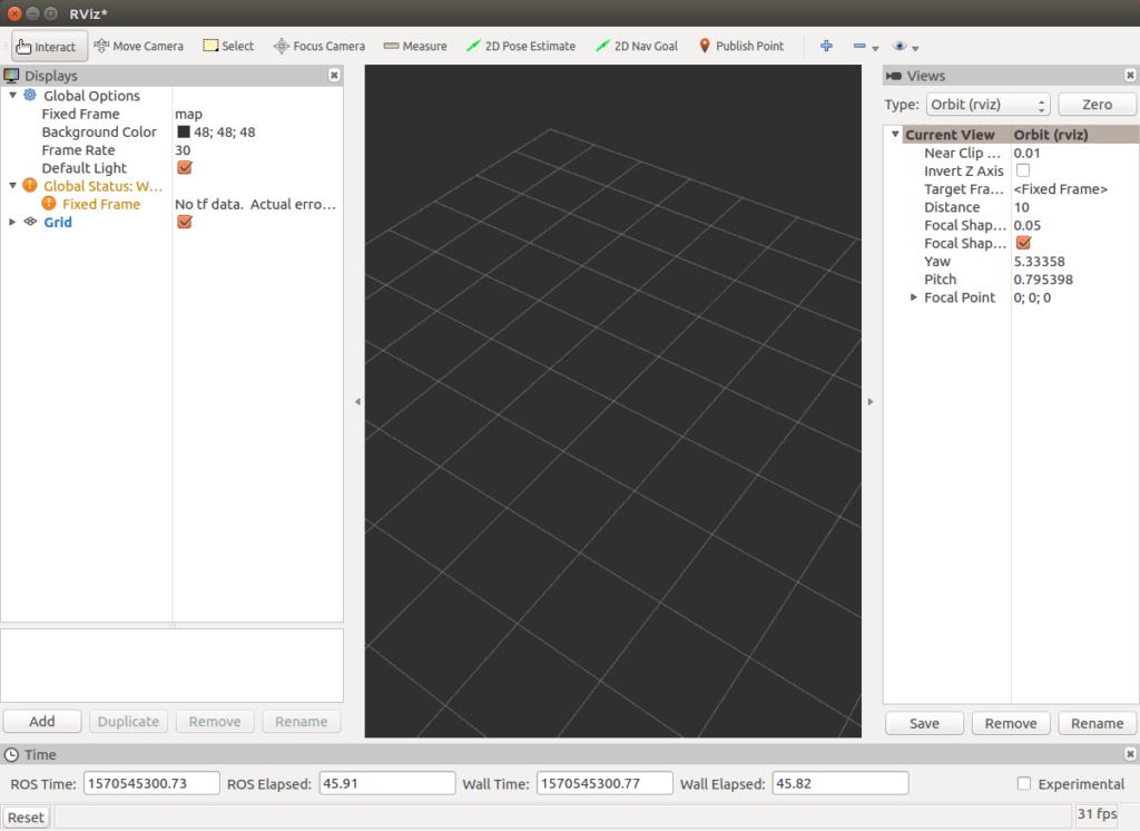نمایشگر سه بعدی نرم افزار RVIZ ارویز نرم افزار ارویز ROS ريالؤ]ة RVIZ