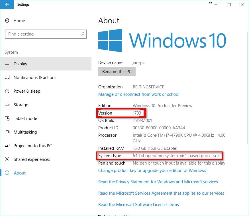 گام اول نصب و اجرای ROS بر روی ویندوز 10 ( بررسی تایپ و ورژن ویندوز 10 )